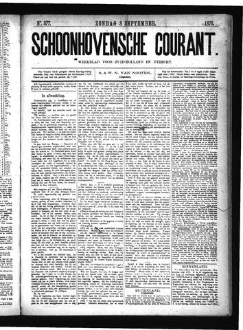Schoonhovensche Courant 1876-09-03