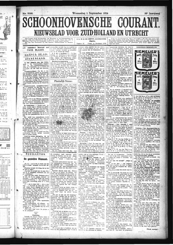 Schoonhovensche Courant 1926-09-01