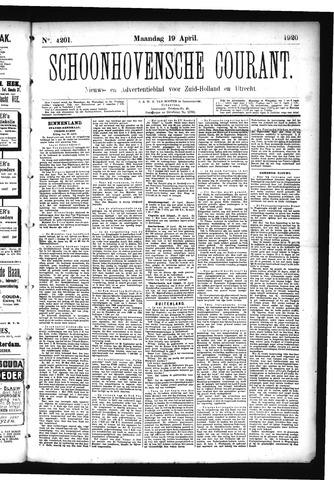 Schoonhovensche Courant 1920-04-19