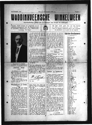 Advertentieblad Waddinxveen 1931-11-01