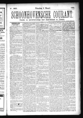 Schoonhovensche Courant 1915-03-09