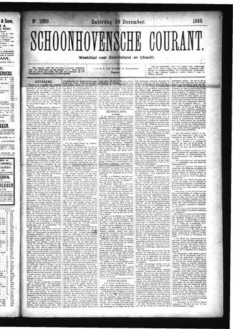 Schoonhovensche Courant 1888-12-29