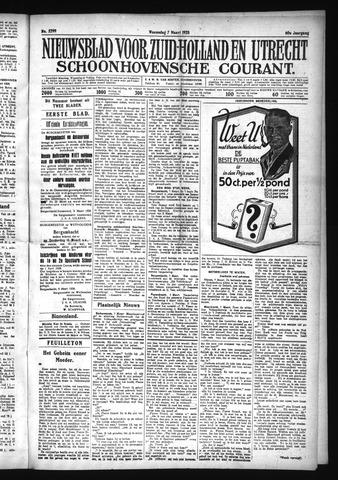 Schoonhovensche Courant 1928-03-07