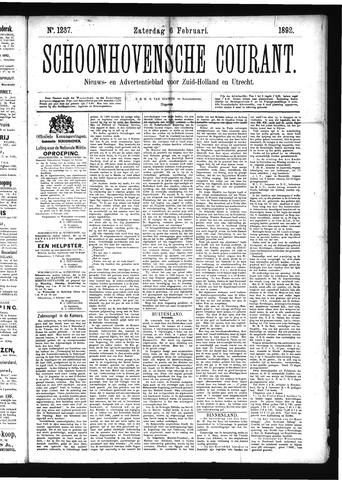 Schoonhovensche Courant 1892-02-10