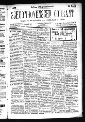 Schoonhovensche Courant 1920-09-10