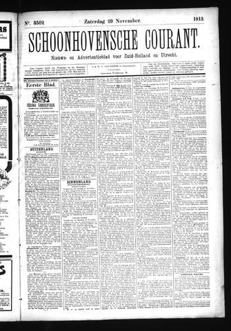 Schoonhovensche Courant 1913-11-29