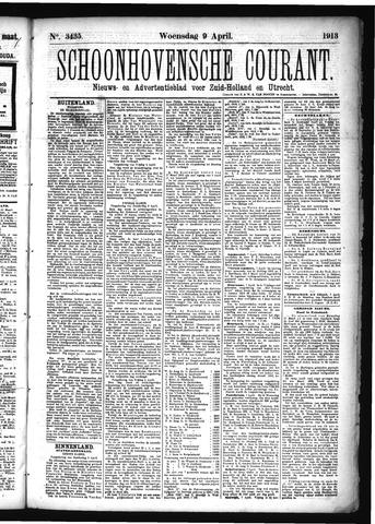 Schoonhovensche Courant 1913-04-09