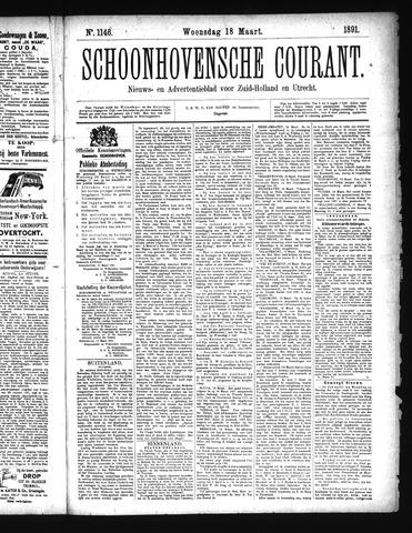 Schoonhovensche Courant 1891-03-18