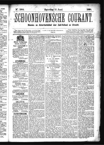Schoonhovensche Courant 1898-06-11