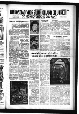 Schoonhovensche Courant 1953-04-08