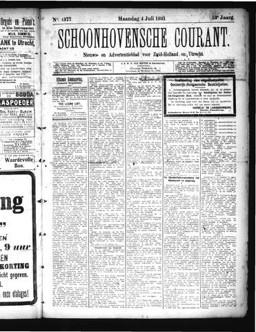 Schoonhovensche Courant 1921-07-04