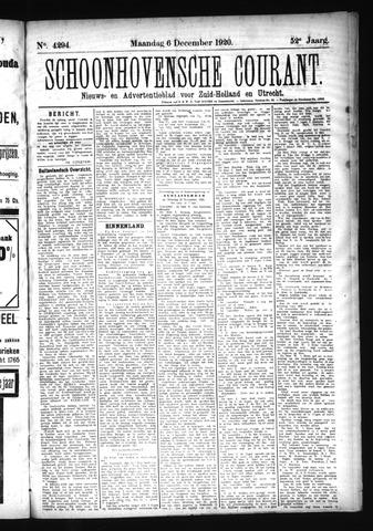 Schoonhovensche Courant 1920-12-06