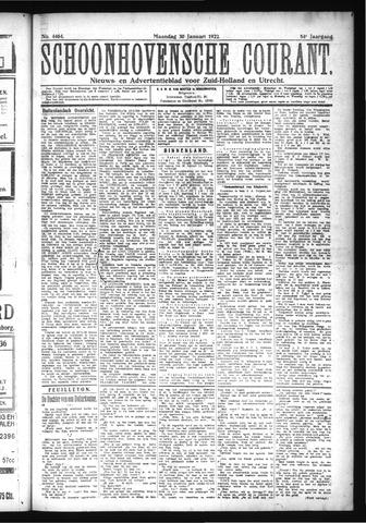 Schoonhovensche Courant 1922-01-30