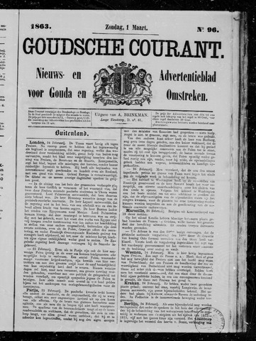 Goudsche Courant 1863-03-01