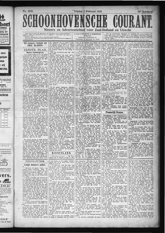 Schoonhovensche Courant 1923-02-02