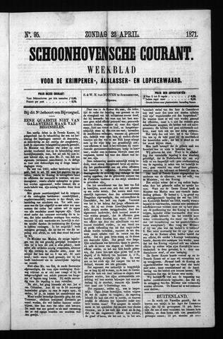 Schoonhovensche Courant 1871-04-23