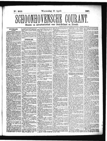 Schoonhovensche Courant 1907-04-10