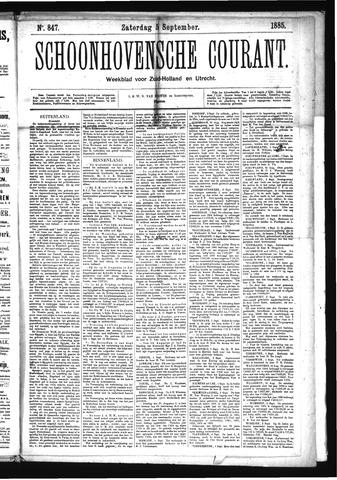 Schoonhovensche Courant 1885-09-05