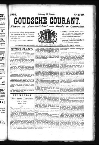 Goudsche Courant 1892-02-27