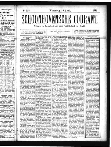 Schoonhovensche Courant 1891-04-29