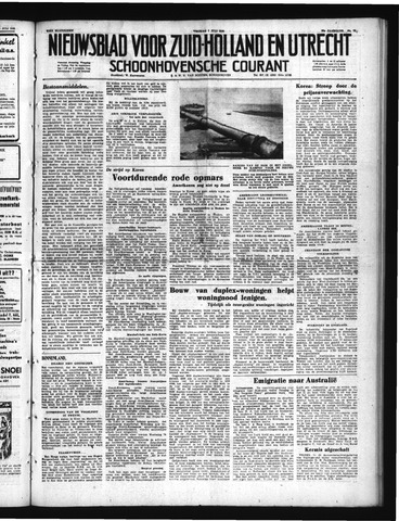 Schoonhovensche Courant 1950-07-07