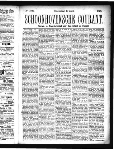 Schoonhovensche Courant 1898-06-29