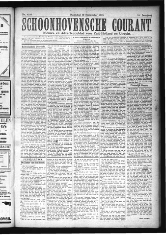 Schoonhovensche Courant 1923-09-10
