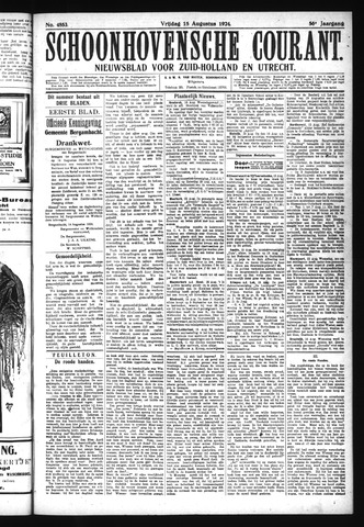 Schoonhovensche Courant 1924-08-15