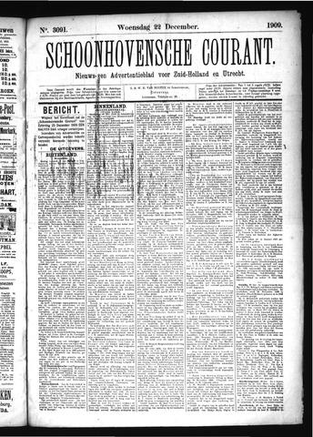 Schoonhovensche Courant 1909-12-22