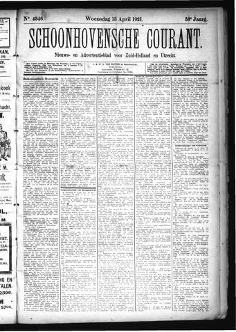 Schoonhovensche Courant 1921-04-13