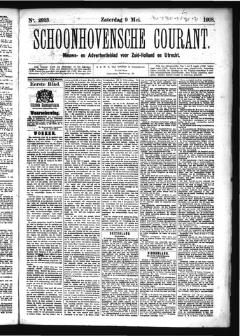 Schoonhovensche Courant 1908-05-09