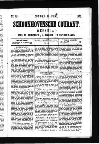 Schoonhovensche Courant 1870-06-19