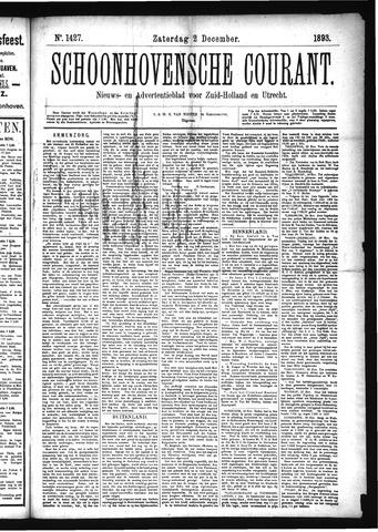 Schoonhovensche Courant 1893-12-02