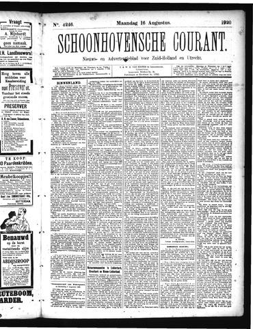 Schoonhovensche Courant 1920-08-16