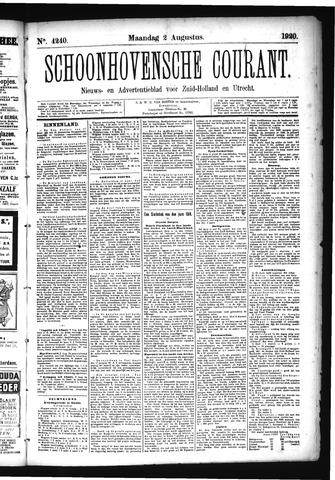 Schoonhovensche Courant 1920-08-02