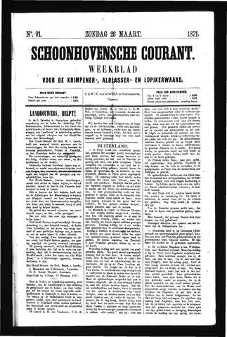 Schoonhovensche Courant 1871-03-26