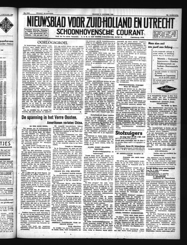 Schoonhovensche Courant 1940-10-11