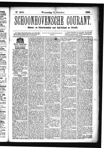 Schoonhovensche Courant 1899-10-11
