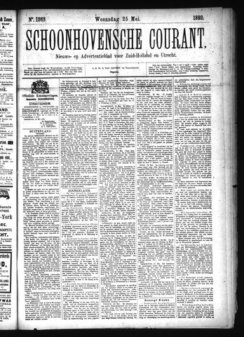 Schoonhovensche Courant 1892-05-25