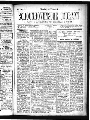 Schoonhovensche Courant 1919-02-25