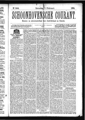 Schoonhovensche Courant 1894-02-03