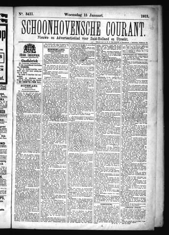 Schoonhovensche Courant 1913-01-15