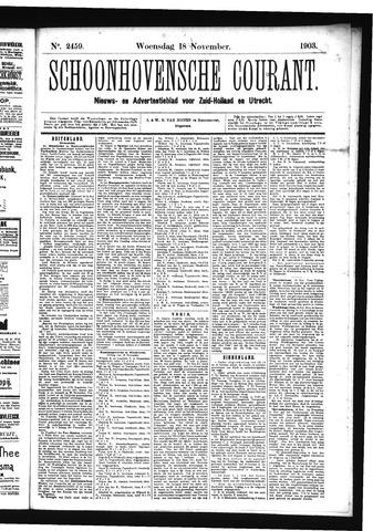 Schoonhovensche Courant 1903-11-18