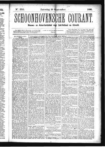 Schoonhovensche Courant 1896-09-19