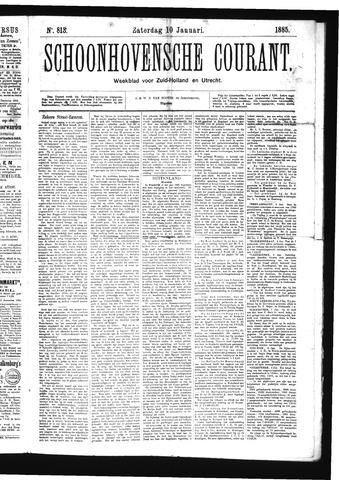Schoonhovensche Courant 1885-01-10