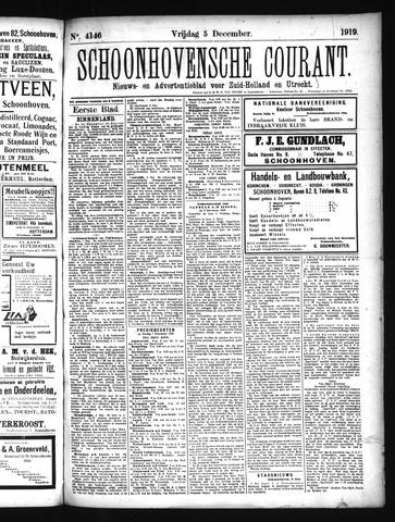 Schoonhovensche Courant 1919-12-05