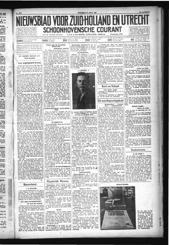 Schoonhovensche Courant 1932-04-27