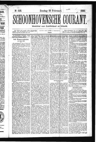 Schoonhovensche Courant 1880-02-22