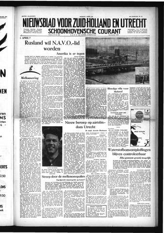 Schoonhovensche Courant 1954-04-02
