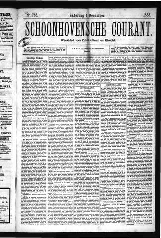 Schoonhovensche Courant 1883-12-01
